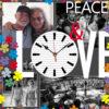 Orologio 350×350 PEACE e LOVE per sito web