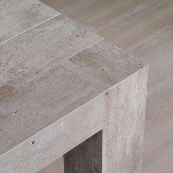 consolle allungabile finitura cemento