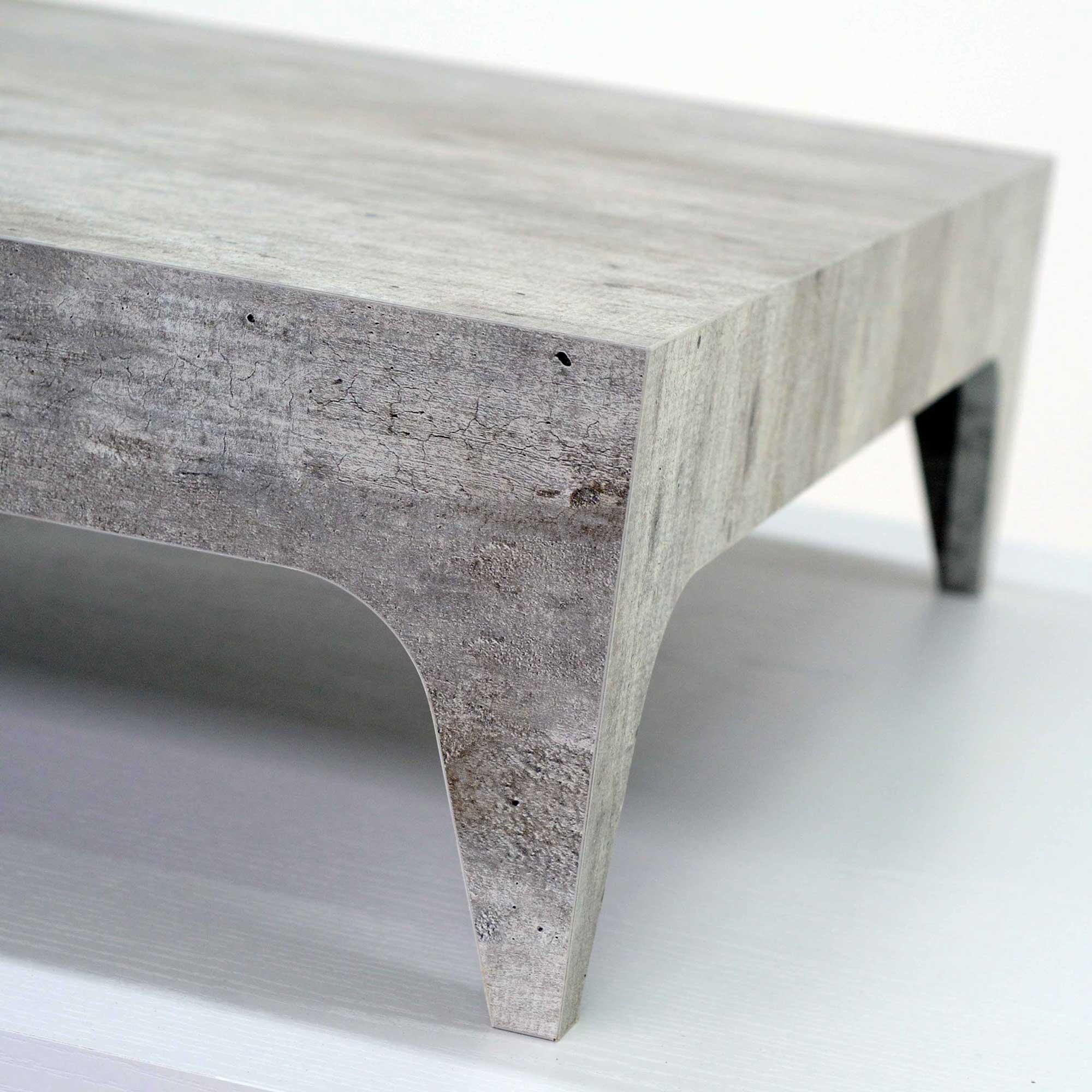Unico Cemento iCreo - Tavolino basso da salotto finitura cemento