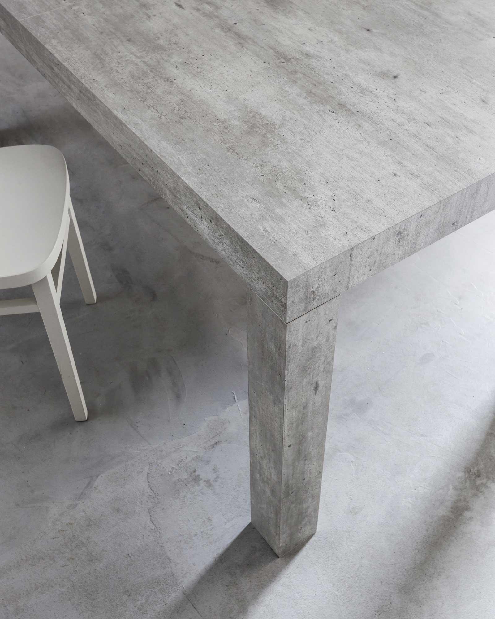 Tavolo allungabile Bacco finitura Cemento iCreo - Tavolo da cucina ...