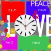 Orologio PEACE AND LOVE frontale SPAZI LIBERI