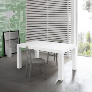 Tavolo allungabile moderno bianco frassino